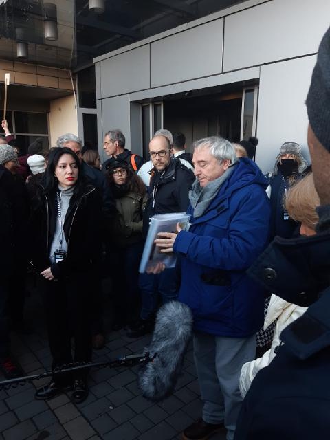 La Ministra Lucia Azzolina ed il Prof. Marcello Pezzetti
