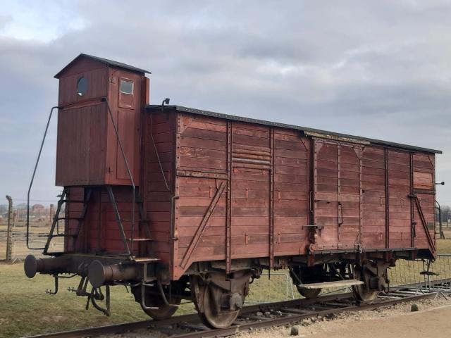 Vagone piombato per il trasporto dei deportati