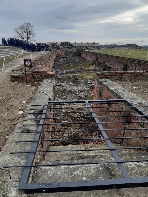 Birkenau - Ingresso del crematorio