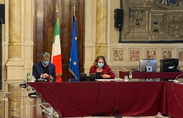 La Presidente Vittoria Cara ed il deputato Simone Baldelli