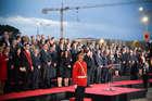 FINI IN VISITA IN ALBANIA IN OCCASIONE DEL CENTENARIO DELL'INDIPENDENZA. INCONTRI CON IL PRESIDENTE DEL PARLAMENTO E CON IL PRIMO MINISTRO