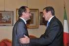 FINI INCONTRA IL PRESIDENTE DELLA COMMISSIONE PER GLI AFFARI EUROPEI DEL BUNDESTAG, GUNTHER KRICHBAUM