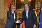 FINI INCONTRA IL PRESIDENTE DEL CONGRESSO NAZIONALE GENERALE LIBICO E CAPO PROVVISORIO DELLO STATO, MOHAMMED MGARIEF